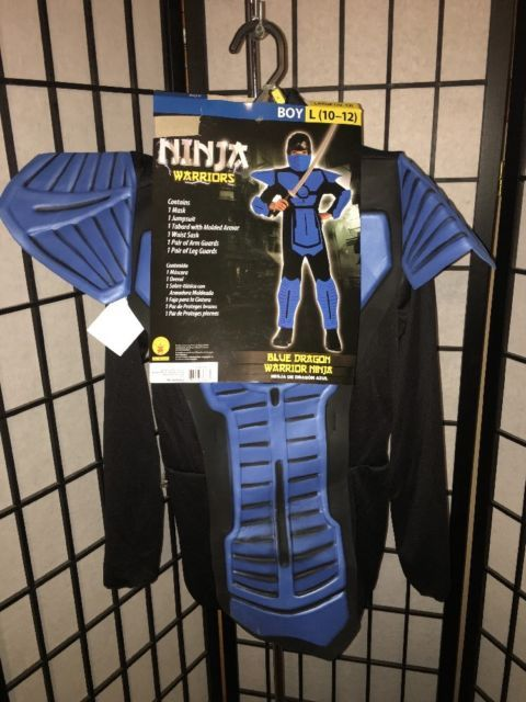 Rubie's Boy's Size Large 10-12 Blue Dragon Ninja Warriors 8 Piece Costume NWT   eBay