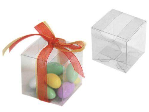 Balsacircle 25 2x2x2 Wedding Favors Boxes Clear Bals Star