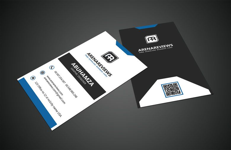 Black White Vertical Business Card Standard Template Vertical Business Card Template Vertical Business Cards Business Cards Layout
