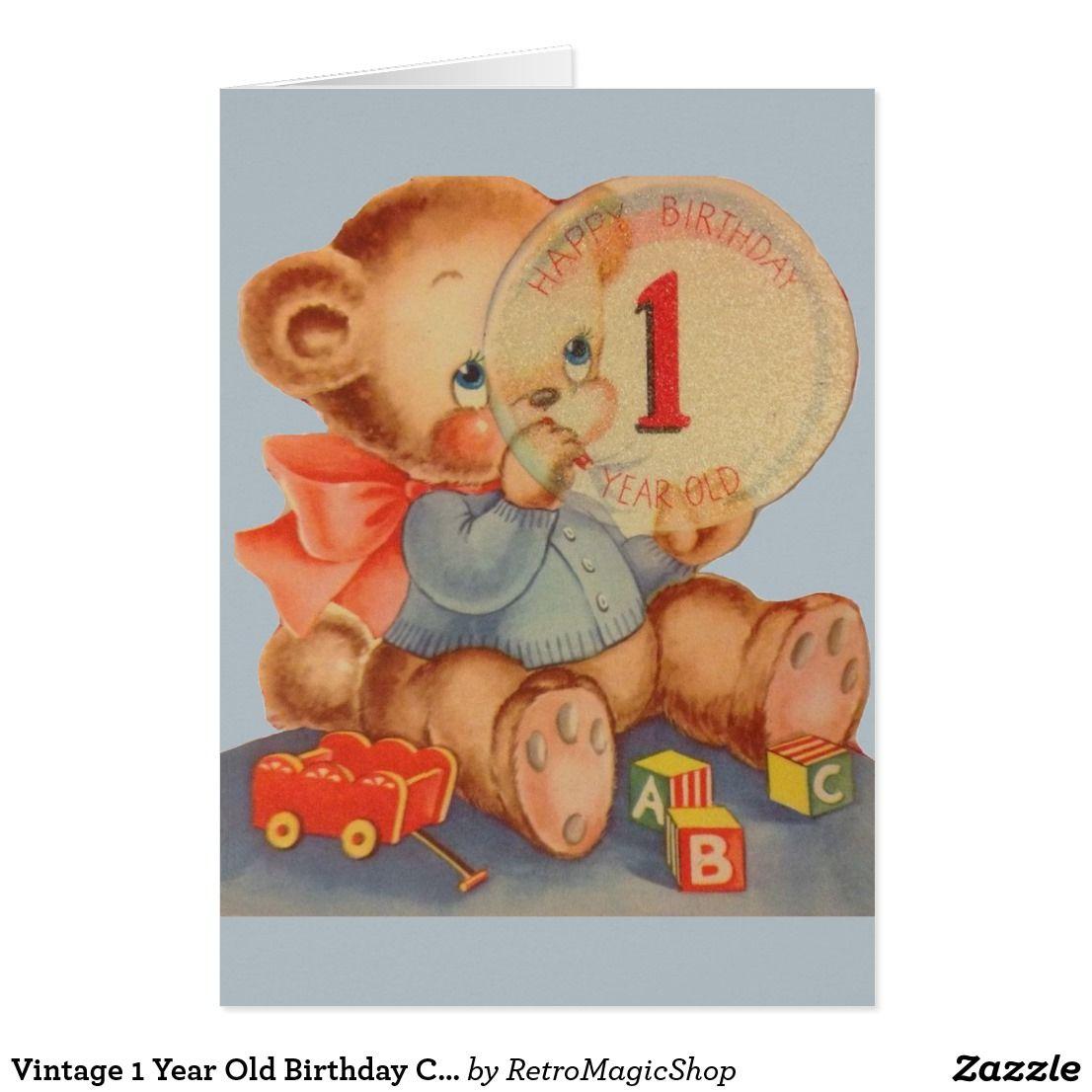Vintage 1 year old birthday card vintage birthday cards vintage 1 year old birthday card kristyandbryce Choice Image