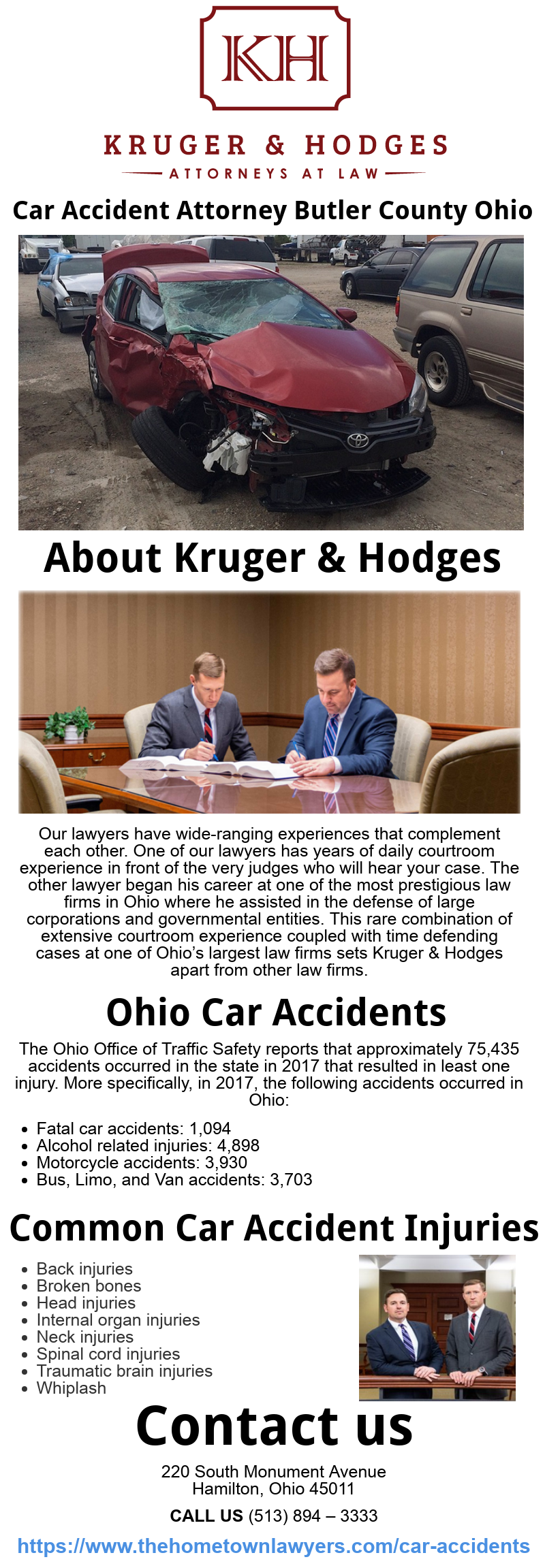Kruger & Hodges LLC Attorneys at Law (thehometownlawyers) on Pinterest