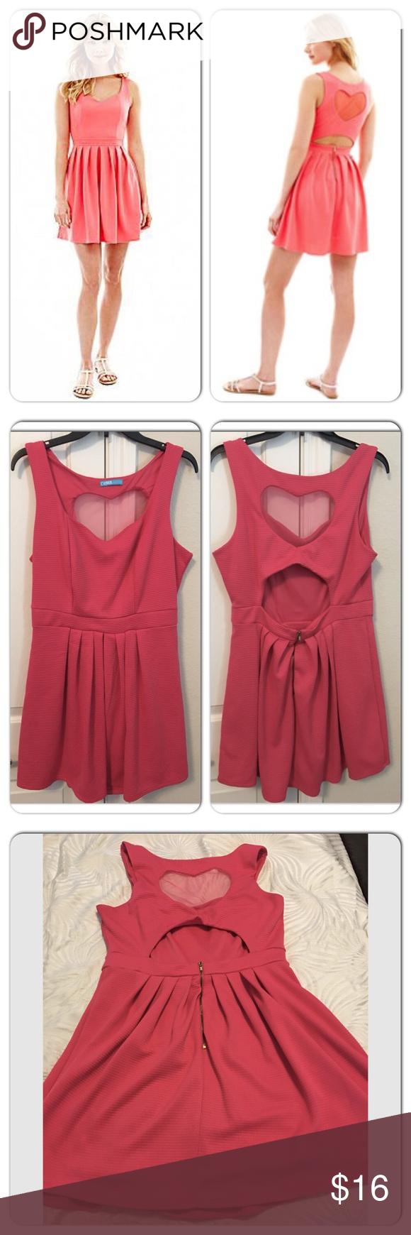 8f344e3ede L Amour Nanette Lepore Pink Heart Cutout Dress L Amour Nanette Lepore Pink  Heart