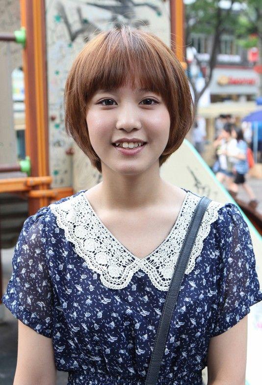 Mushroom Haircut Girl : mushroom, haircut