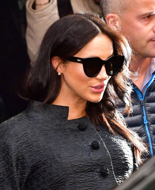 Meghan, Duchess Of Sussex Seen Leaving The Mark Hotel On
