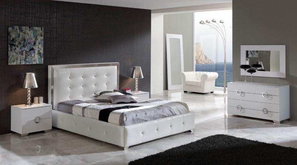 Modern White King Size Bedroom Set White Bedroom Pinterest