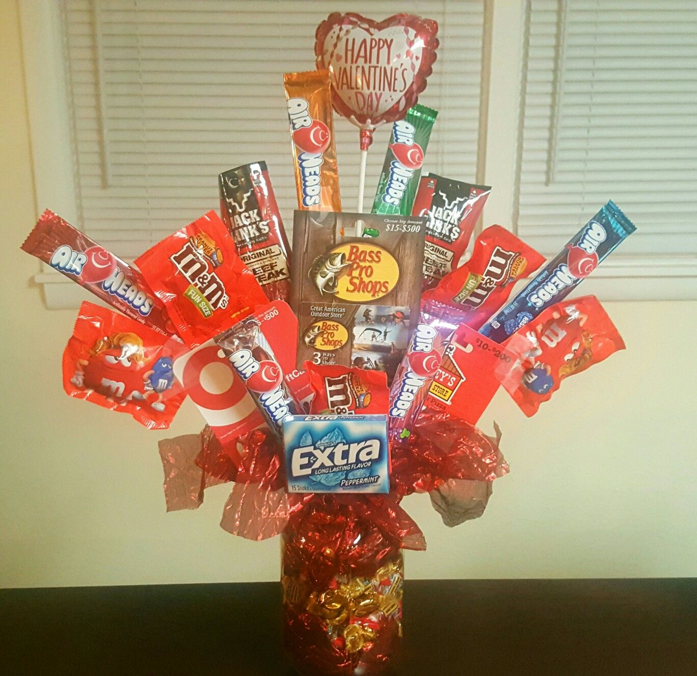 manly valentines gift card candy bouquet jolly ranchers and whethers in jar 3 - Manly Valentine Gifts
