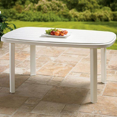 Brylane Home Oval Resin Table White 0 By Brylanehome 99 Rectangular