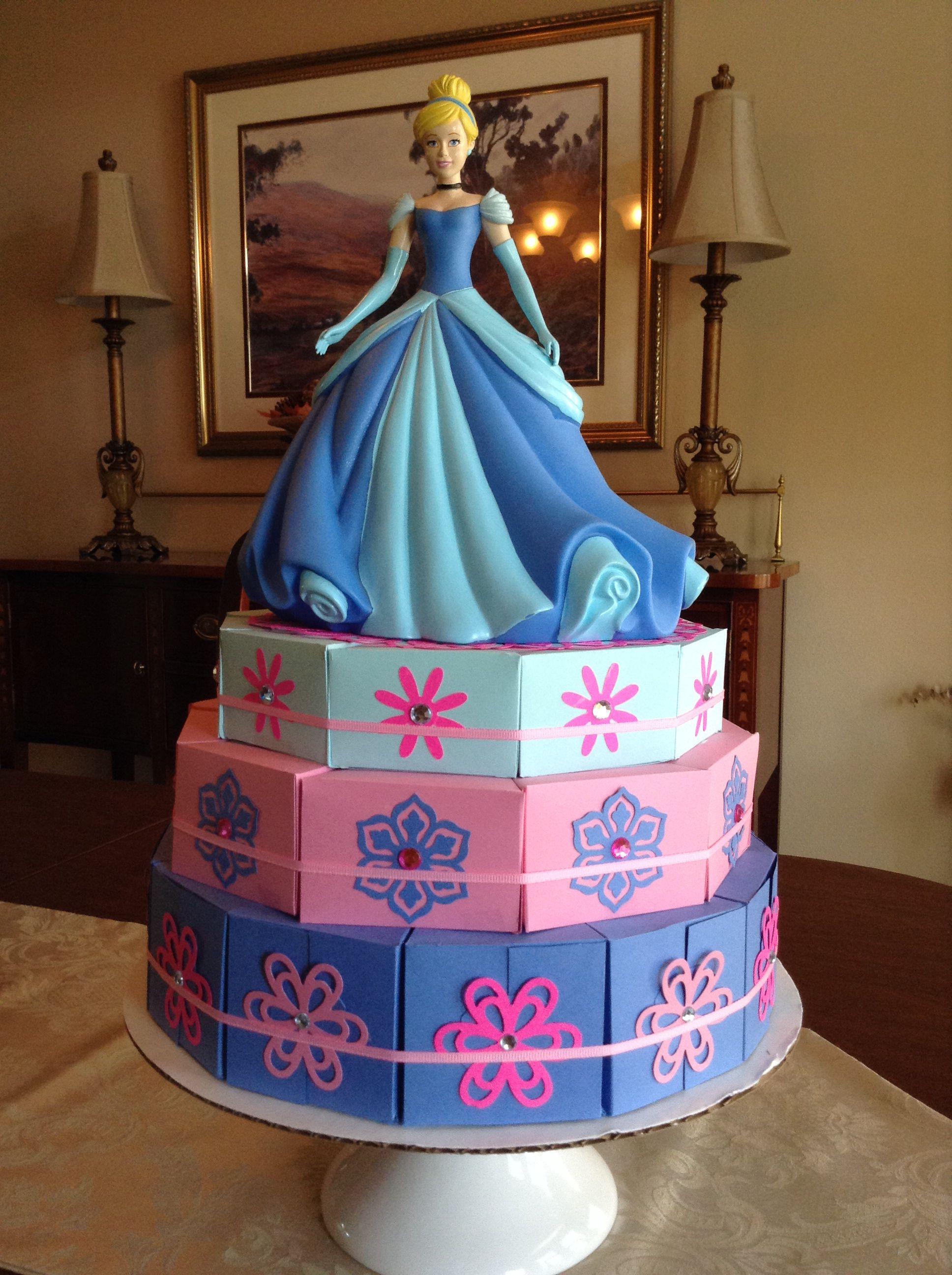 Cinderella paper cake   Cake box - Stampin Up   Pinterest   Cajas de ...