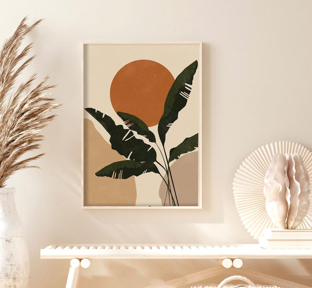 Botanical Prints Mid Century Modern Wall Art Abstract Boho   Etsy ...