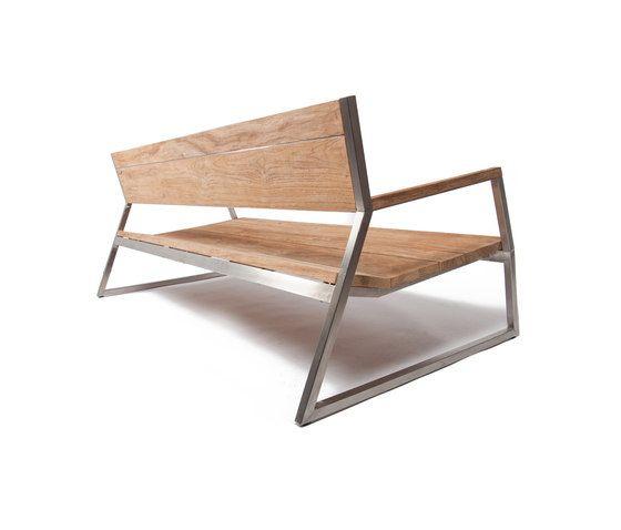 Salma Lumiere Low Bench von Wintons Teak   Gartenbänke   Furniture ...