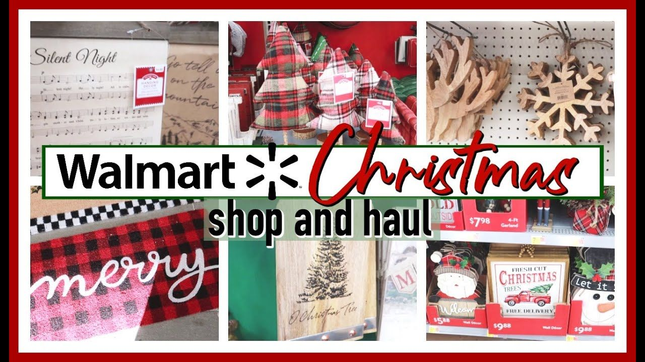 New Walmart Christmas 2020 Shop With Me Haul Youtube In 2020 Christmas Decor Diy Walmart Christmas