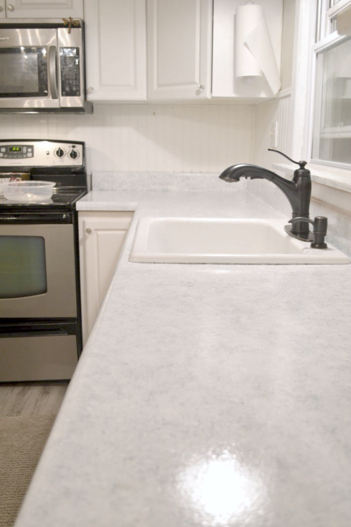 Re Do Counter Tops To Look Like Granite This Blogger Had