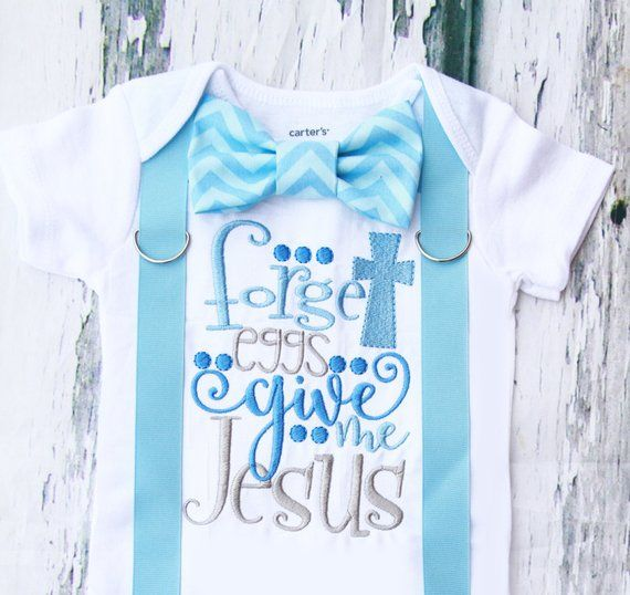cf15ccc7d4f0 Baby Boy Forget eggs Christian Easter onesie