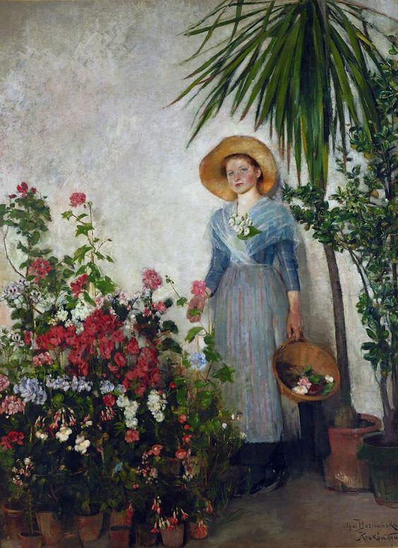 In The Orangery Olga Boznanska Painting Olga Boznanska Art