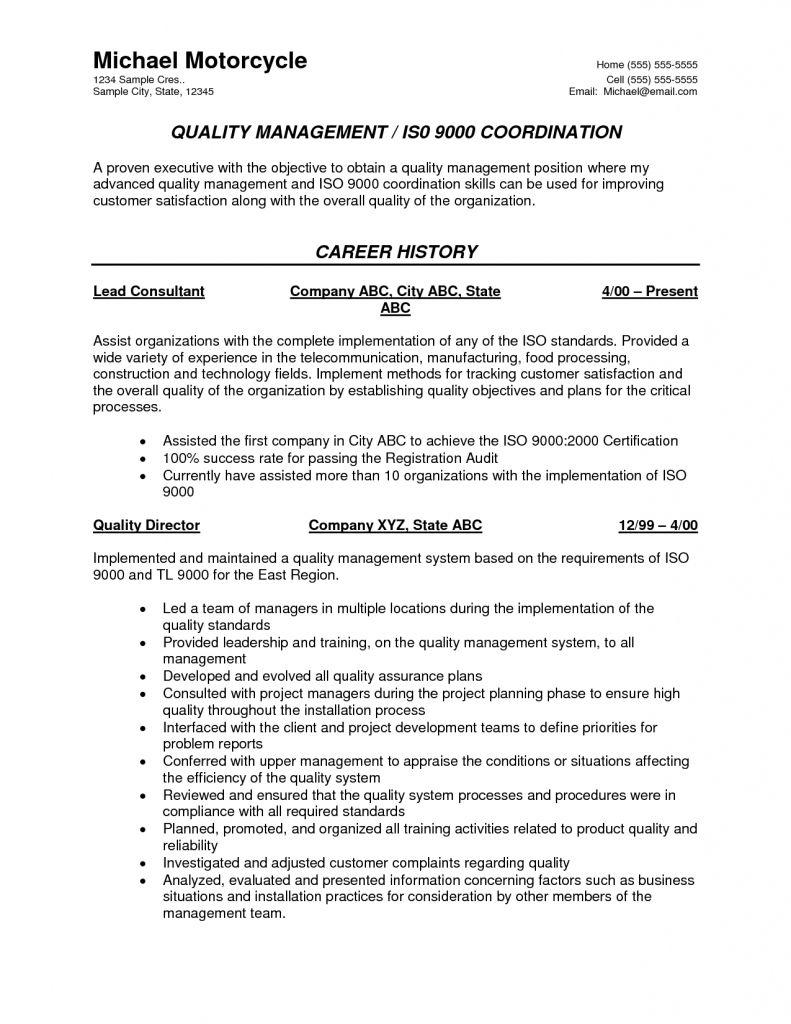 Resume Format Quality Control 2021 Resume Format Best Resume Format Resume