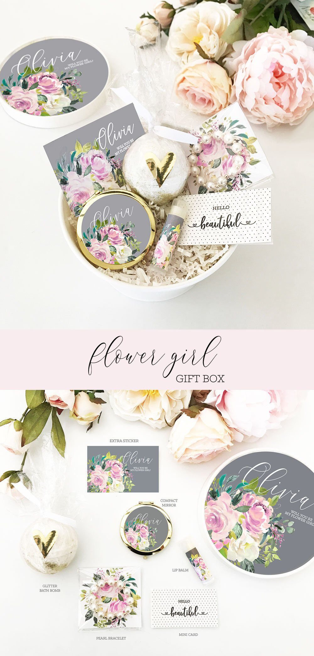 Flower girl proposal box flower girl gift box will you be