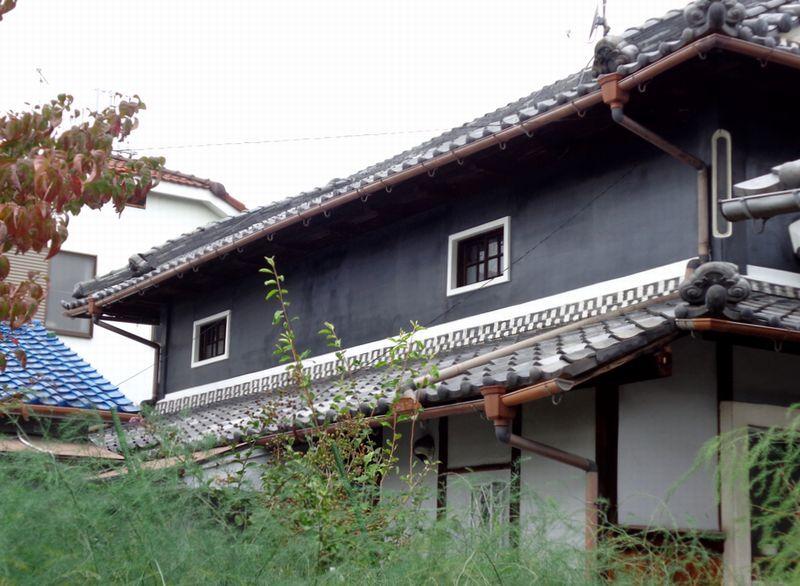 和風住宅 外壁の黒漆喰塗り替え アフター 家 外観 家 外観