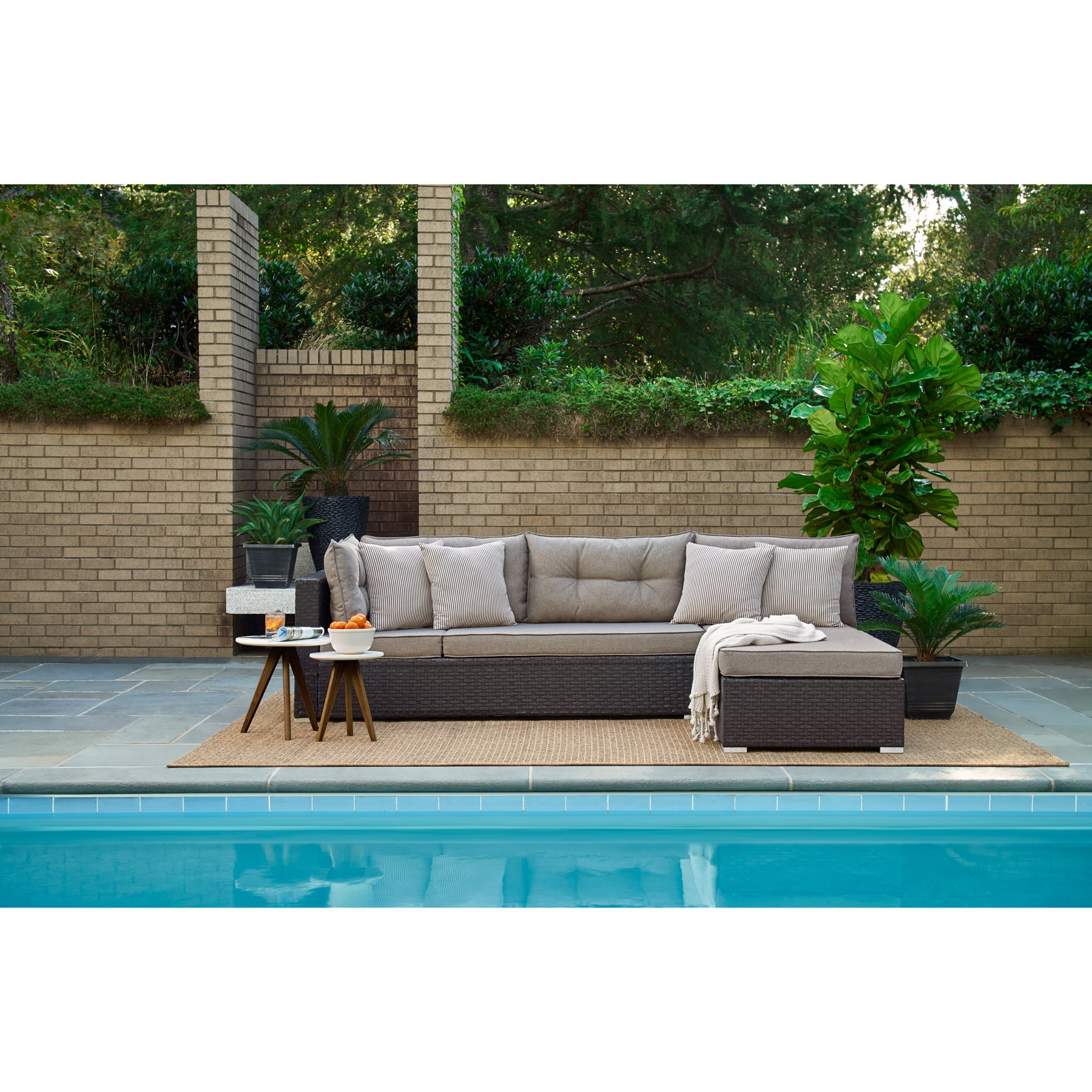 Outdoor Relax A Lounger Havana Resin Wicker 2 Piece Modular
