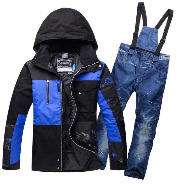 Mens WinterSuit Waterproof Hiking Jacket Winter Ski Outdoor Raincoat Hoodie Tops