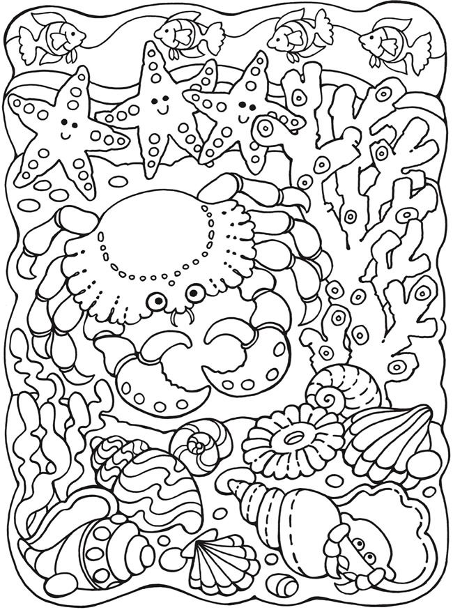 SPARK Sea Life Designs Coloring Book | Dover Publications | Mandalas ...