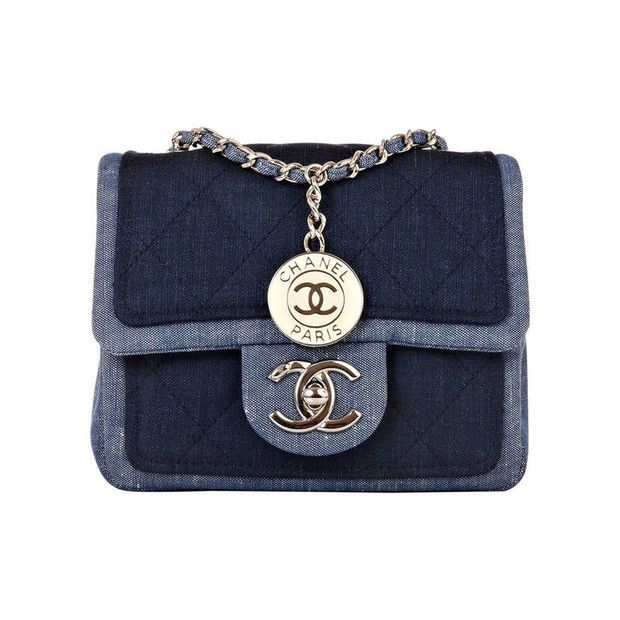 Chanel Quilted Denim Graphic Small Crossbody Flap Bag | Bags ... : coco chanel quilted handbag - Adamdwight.com