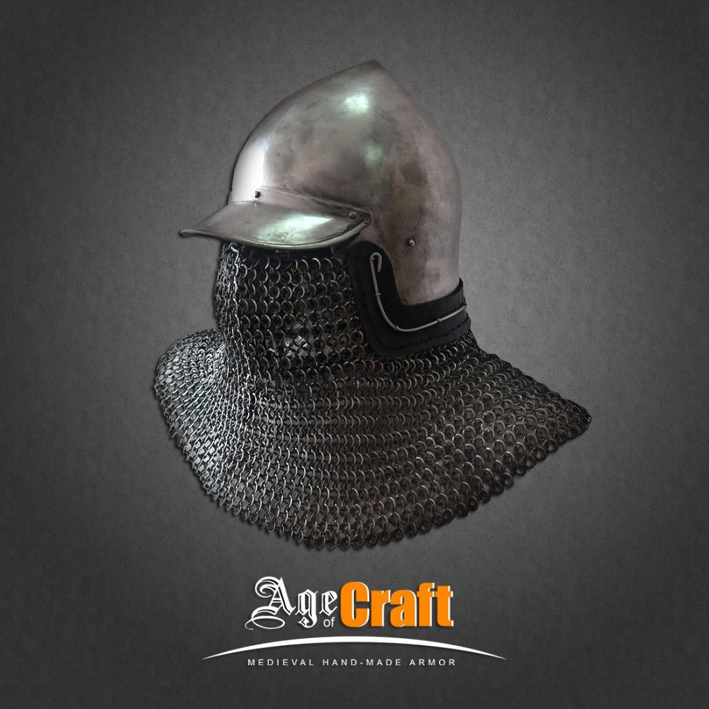 Bascinet With A Peak Age Of Craft Medieval Armor Middle