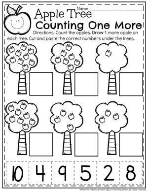 Counting 1 More Worksheets For Kindergarten Math Mathforkindergarten Math Activities Preschool Preschool Math Worksheets Kindergarten Math Worksheets