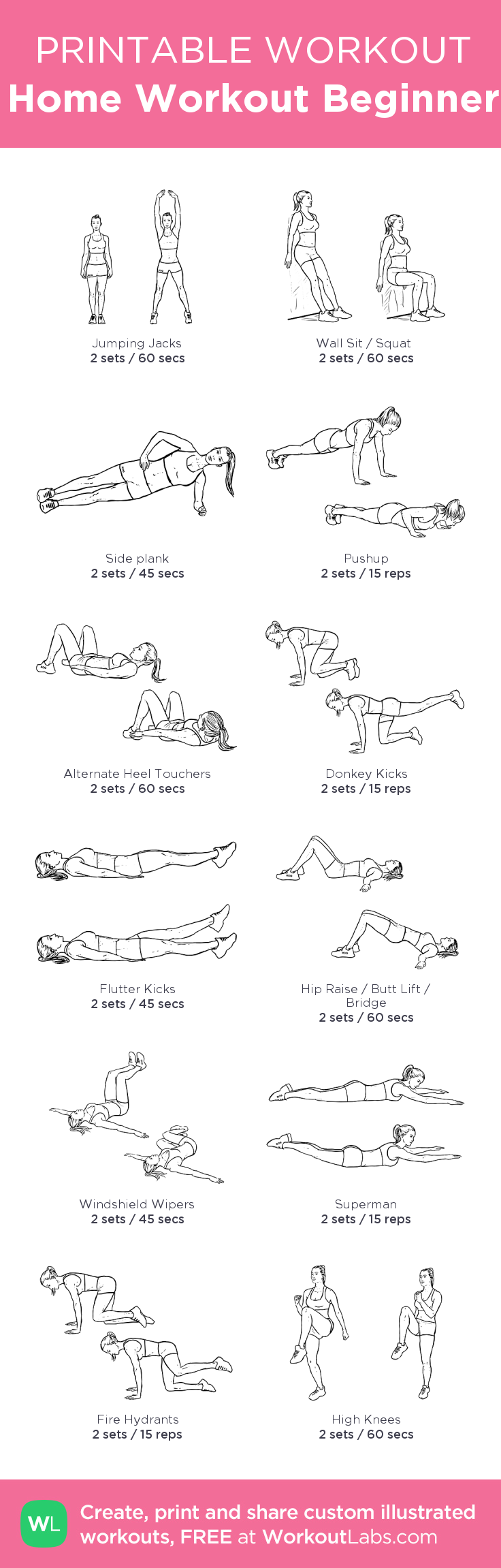 Old Fashioned image pertaining to free printable workout plans