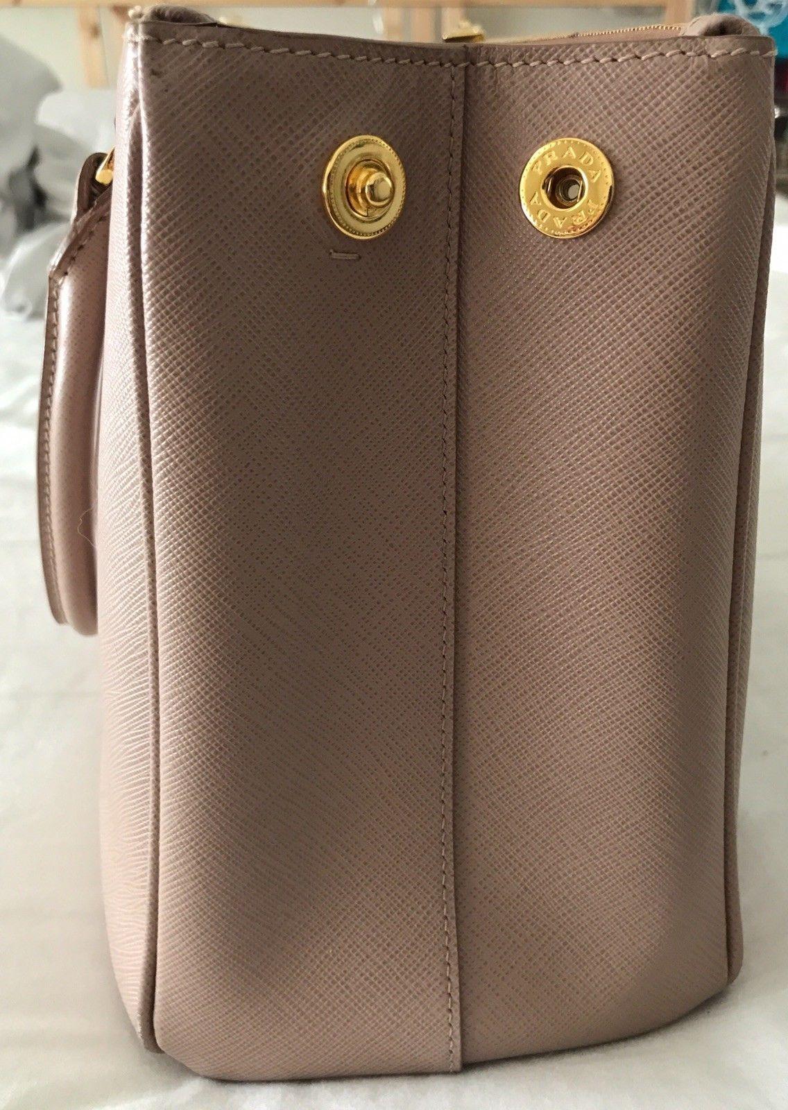 814bcb46cd5c ... shopping prada saffiano lux double zip tote cammeo small bn1801 1100.0  03309 9d5ff