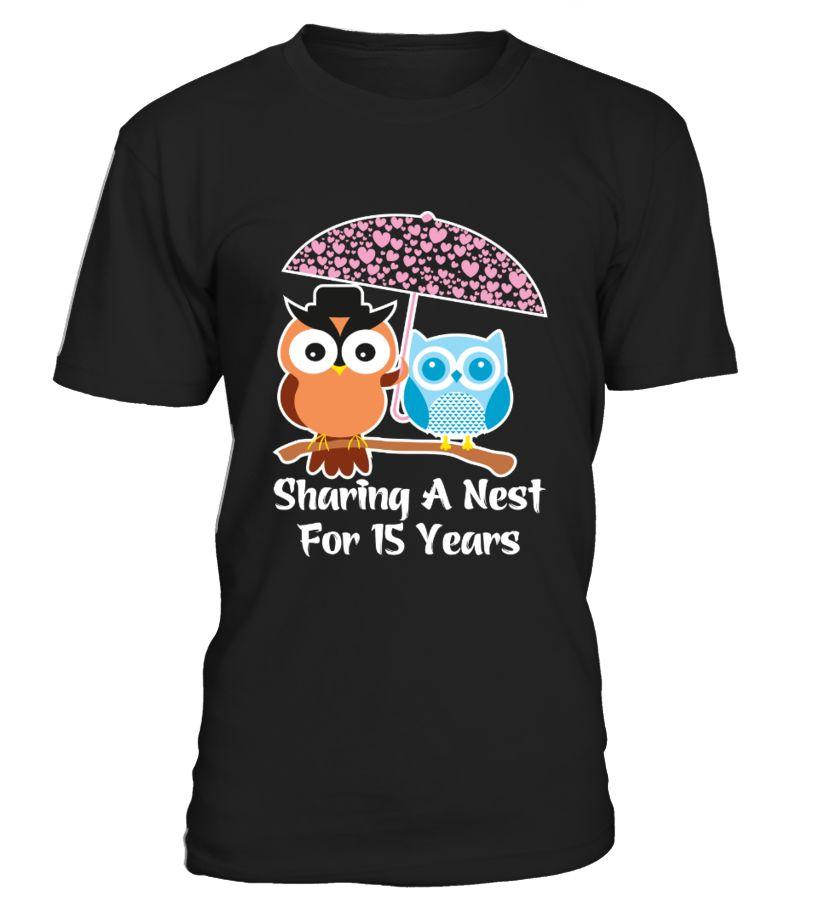 15 Years Wedding Anniversary Gifts Valentines Day T Shirt
