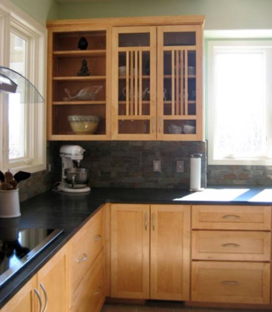 55 Inspiring Black Quartz Kitchen Countertops Ideas ... on Backsplash Ideas For Black Granite Countertops And Maple Cabinets  id=27086