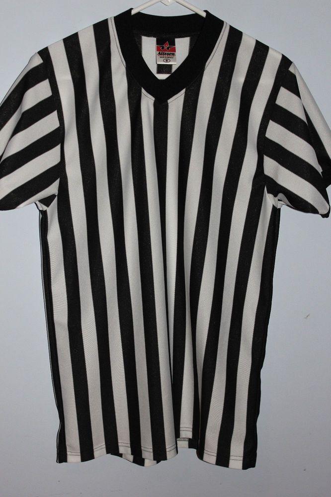 Referee Shirt ALLESON ATHLETIC Unisex Ref Striped Black   White V-Neck S  Small  Alleson  Jerseys b321fc6c2