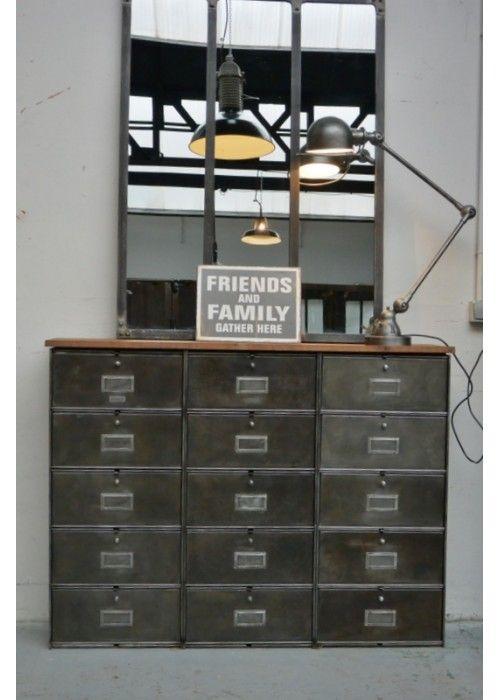 Meuble Strafor Vers 1950 Decoration Style Industriel Retro Deco Entree Maison Interieurs Industriels