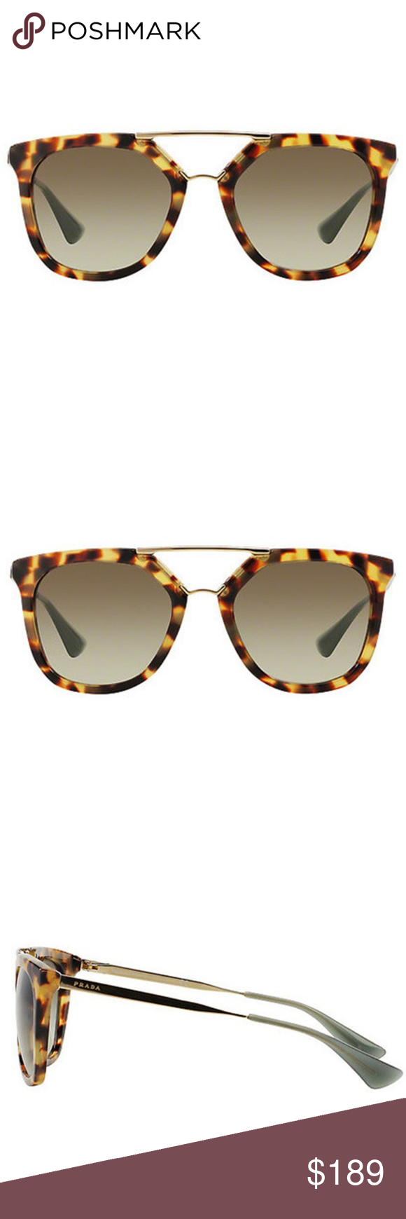 0fcfd559c6 Prada Sunglasses Medium Havana w Green NWT in 2018