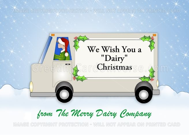 From Milk Truck Company-Christmas Card-Customizable Text card From Milk Truck Company-Christmas Card-Customizable Text card ,