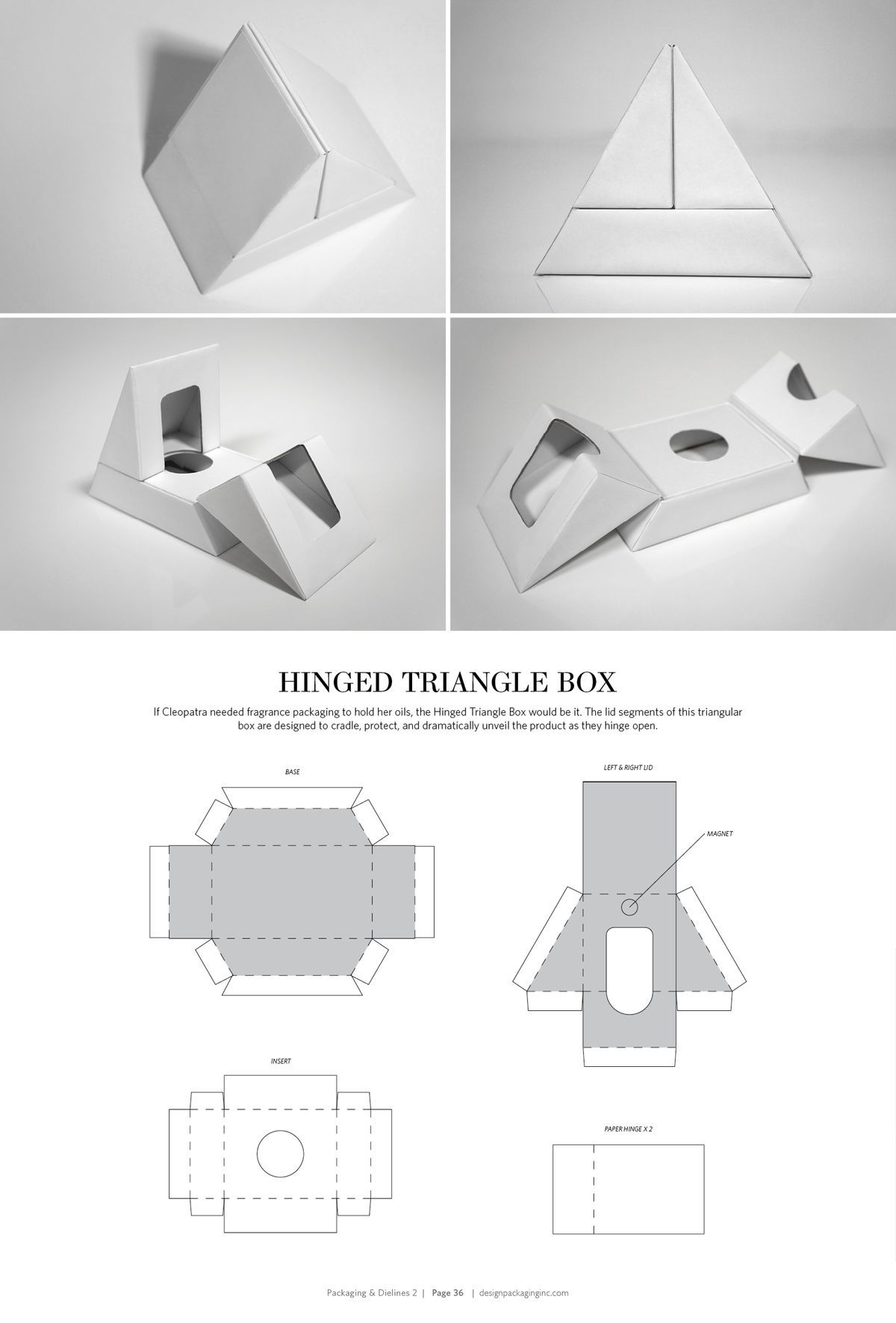 Hinged triangle box free resource for structural for Triangle packaging template