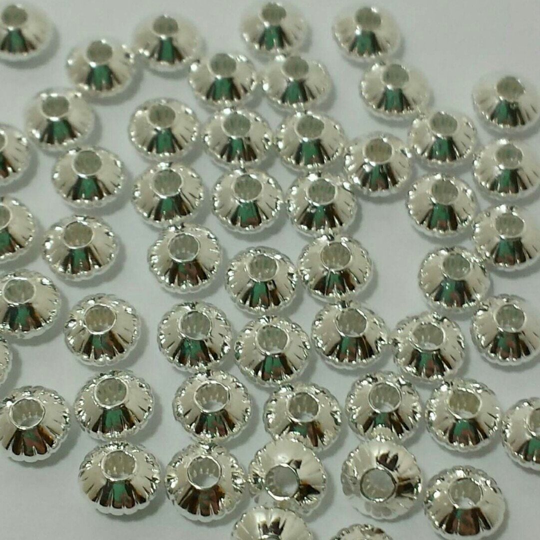 5mm x 3mm Corrugated Saucer Beads