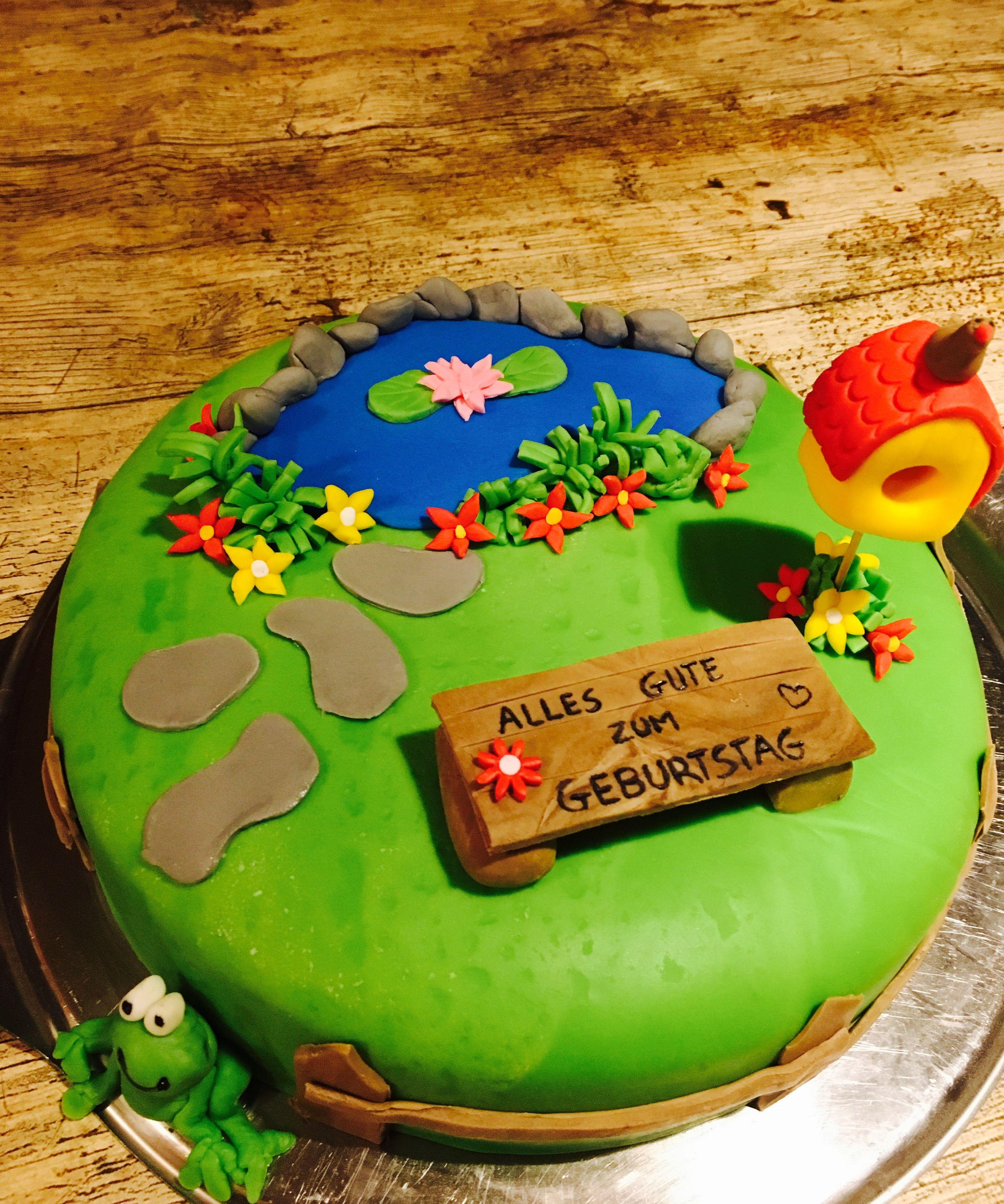 Fondant Garten Torte Alles Gute Geburtstag Tortenideen Torten