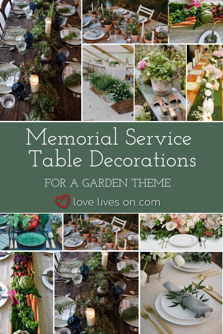 Memorial Service Decorations