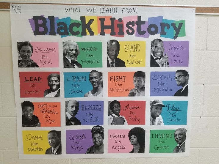 Photo of For Black History Month I made this poster! Feel free to share the idea!