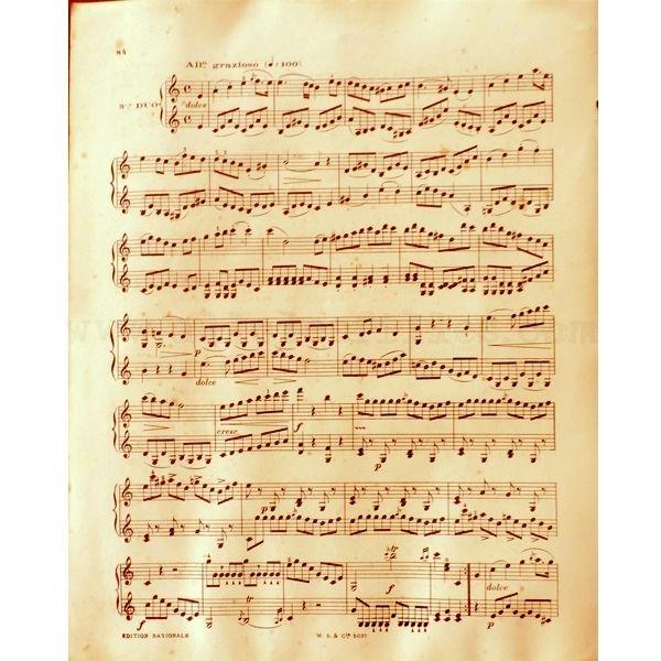 5 feuilles anciennes de papier musique diy pinterest papier partition et papier - Feuille de musique a imprimer ...