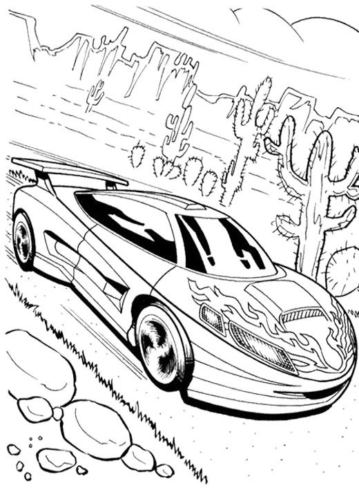 Good Looking Car Hot Wheels Coloring Page  Kids Coloring Pages