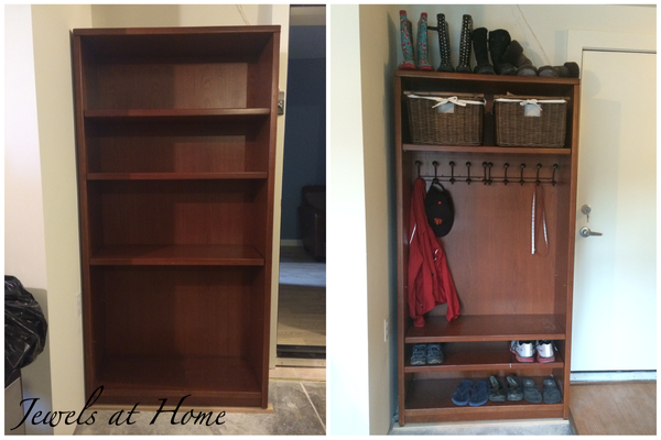 Mudroom Locker Made From A Repurposed Bookcase Jewels At Home