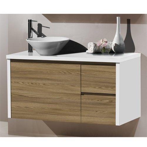 Zen combinaci n blanco madera muebles de ba o for Bano blanco y madera