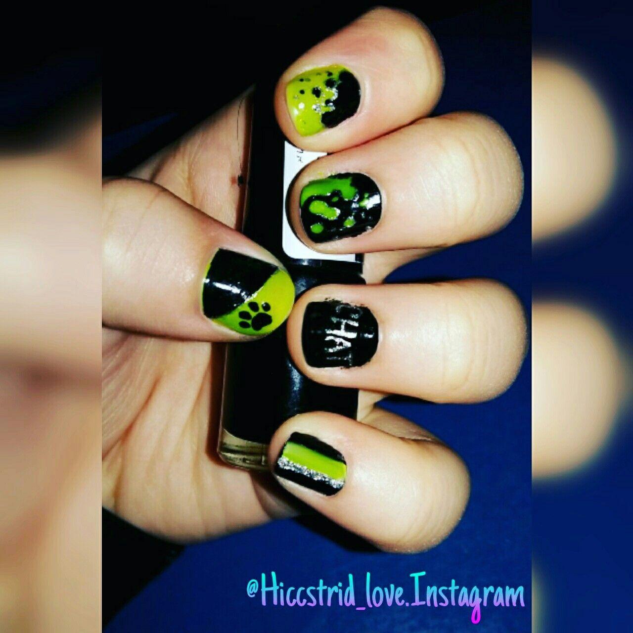 Miraculous ladybug nail art chat noir nails pinterest ladybug nail art miraculous ladybug - Nail art chat ...