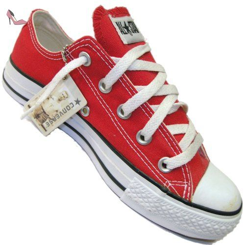Converse - Basket - All Star Basse Ox Toile - M9696 - Rouge ...