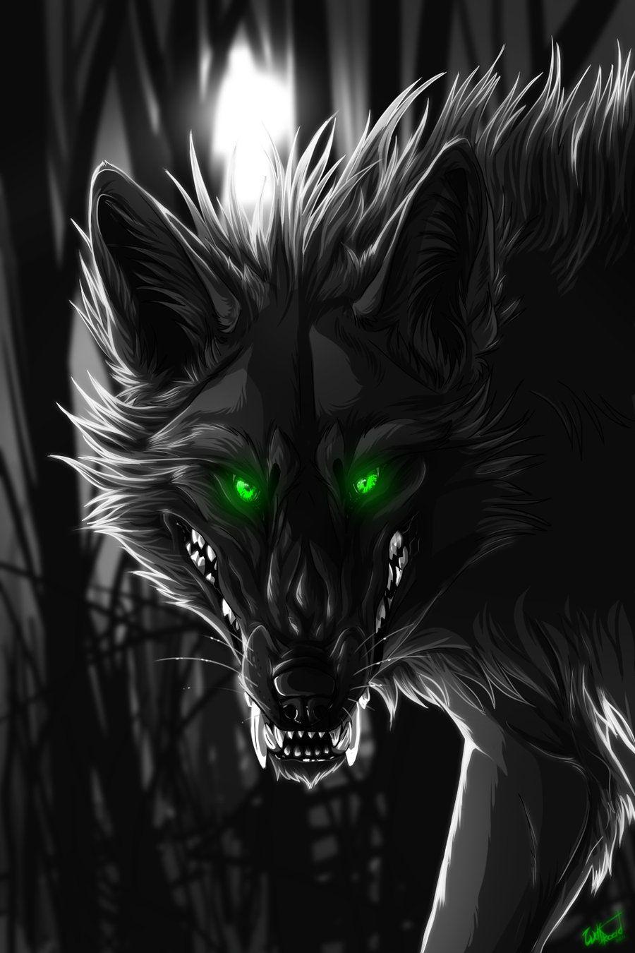 Demon wolf google search illustraties en posters for Domon pictures