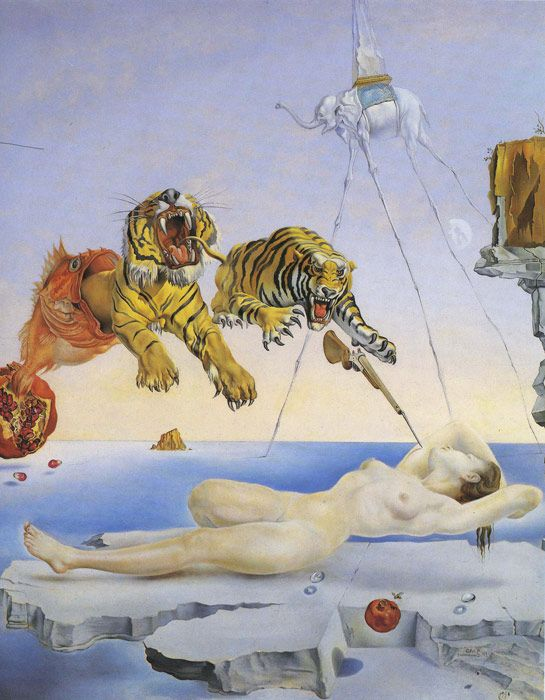 Paintings Reproductions Dali, Salvador Dream Caused by the flight of a Bee around a Pomegranate