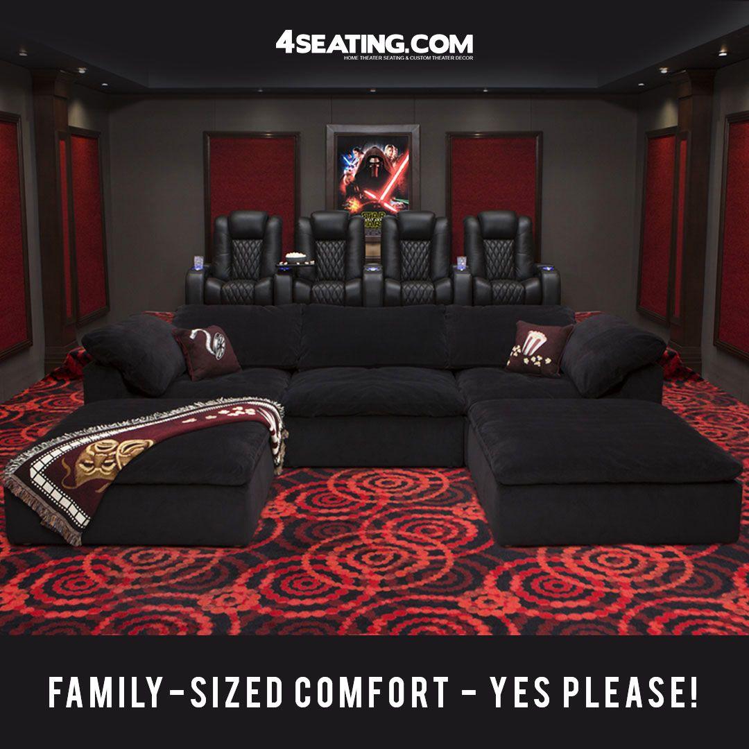 Seatcraft Heavenly Modular Sofa Fabric, Black, Or