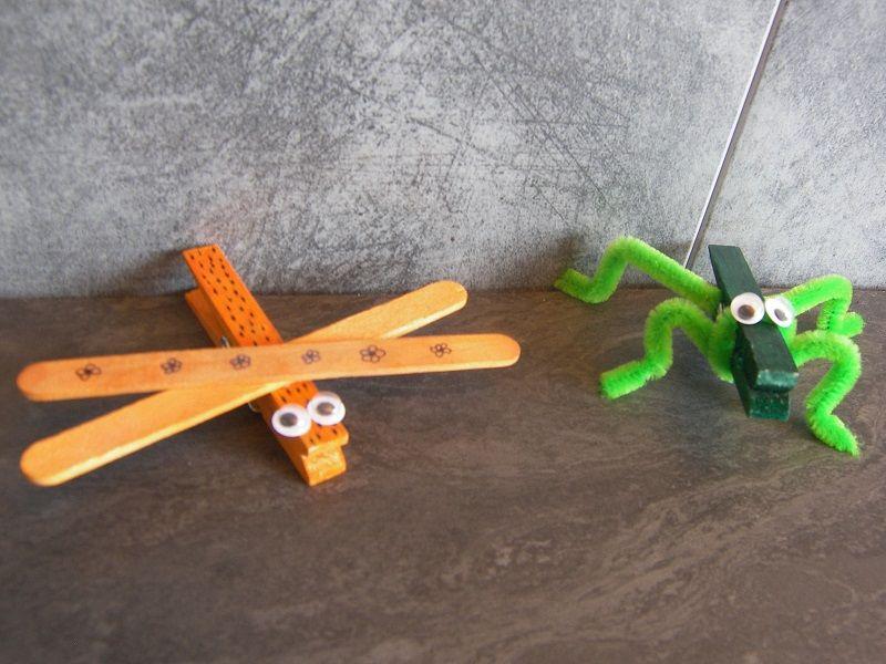 insectes pince linge activit s maternelle pinterest activit manuelle enfant activit. Black Bedroom Furniture Sets. Home Design Ideas